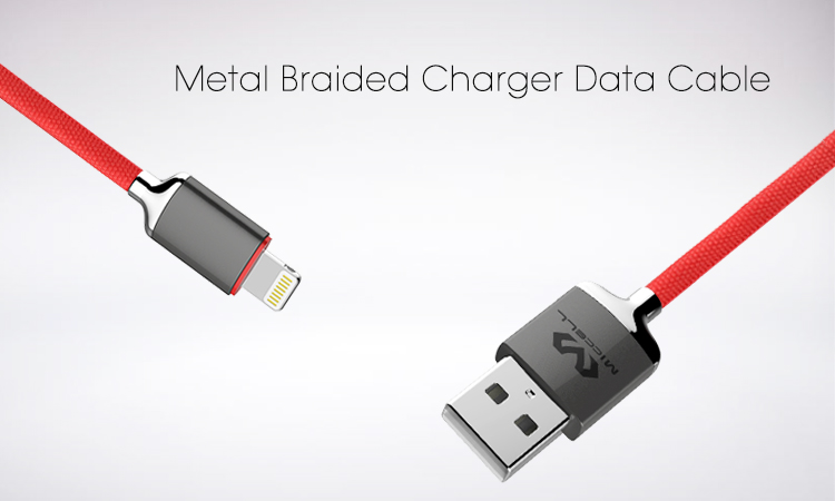 metal braided usb data cable