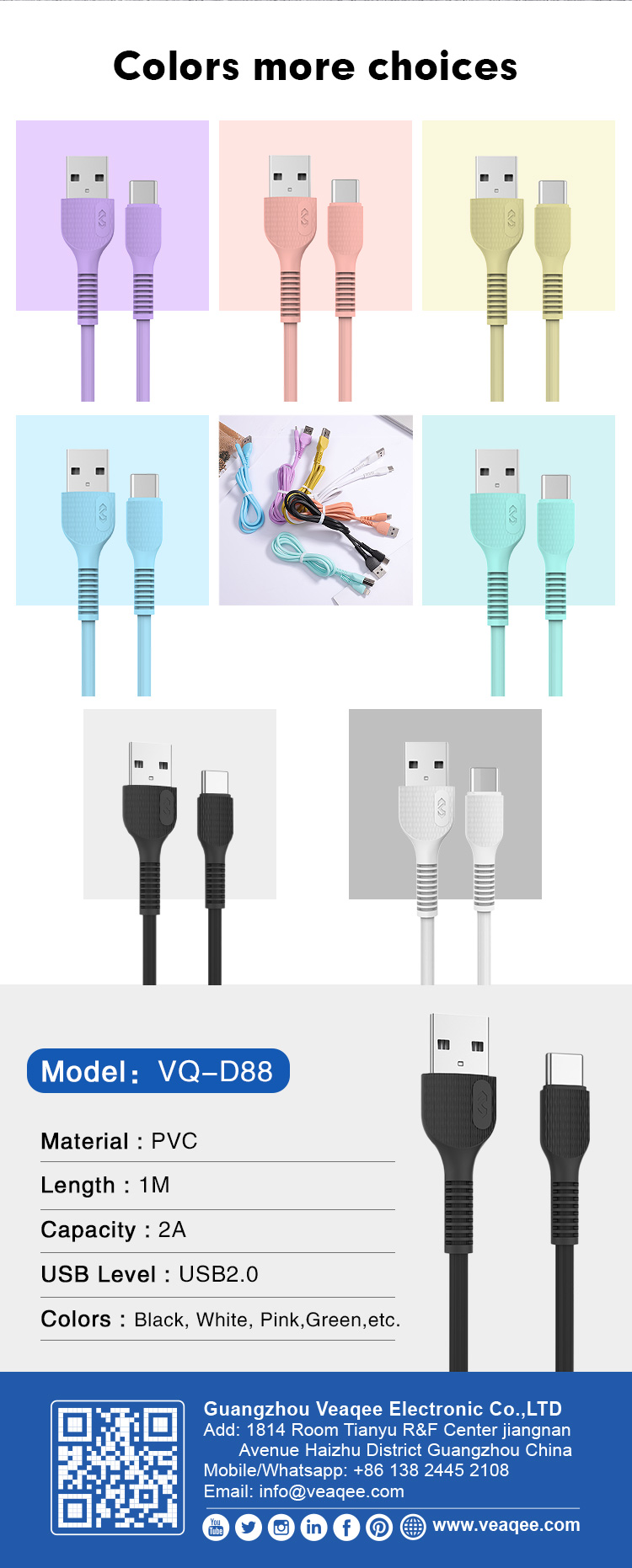 Manufacturers usb c cable custom usb type c cable 2A for samsung (7).jpg