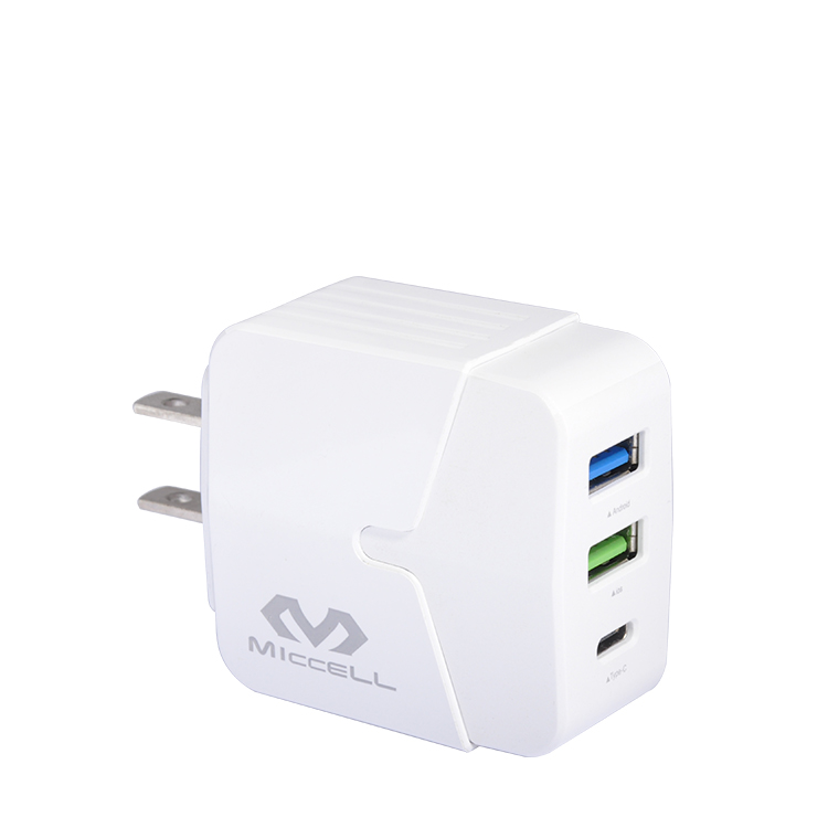 Veaqee Multi-port PD 18W US fast usb wall charger T03