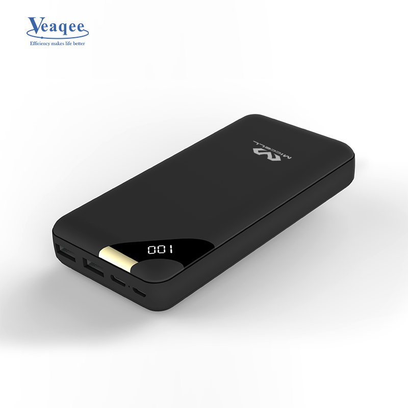 Veaqee Portable 10000mah power bank LED display P08