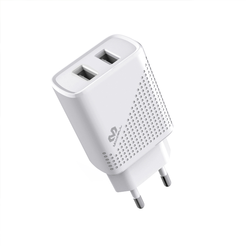 Veaqee 2.4A dual port usb wall charger EU T27