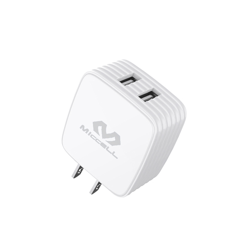 Veaqee 2.4A dual port usb wall charger US T26