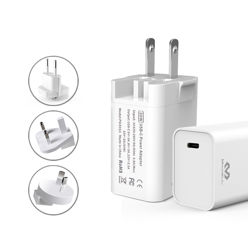 Veaqee PD 30W fast charging usb c wall charger T200
