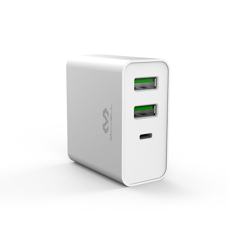 Veaqee PD 65W fast charging 3 port usb wall charger T200