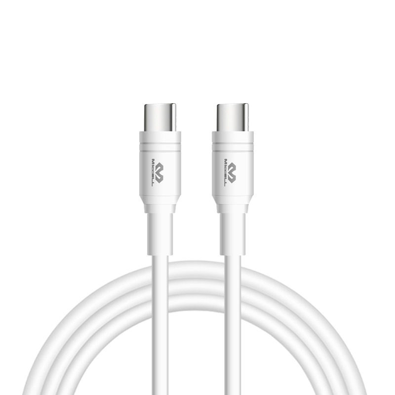 2020 Veaqee 3A type c to type c usb cable fast charging white D11
