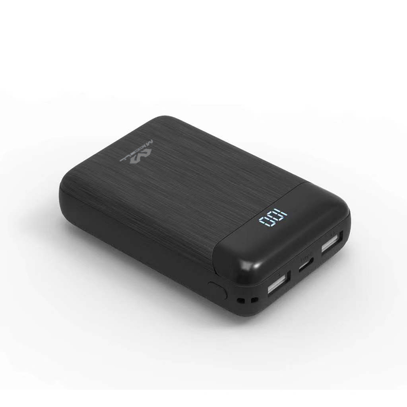 Veaqee portable 10000mah LED digital display dual port usb power bank P101