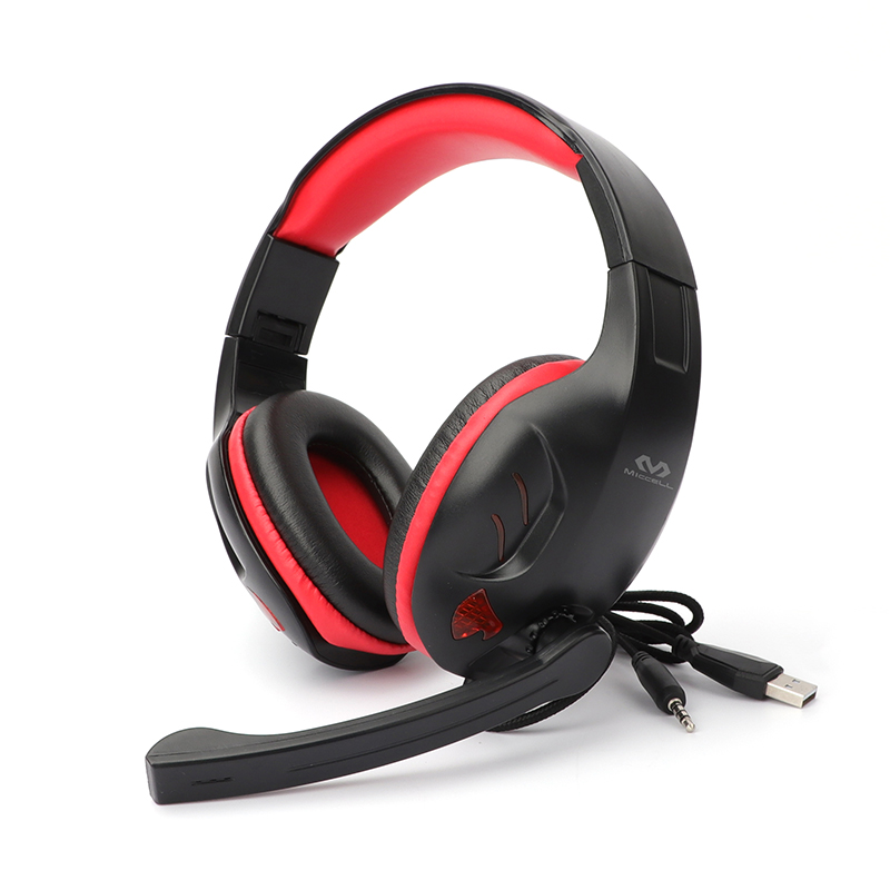 1.9m line PC noise cancelling gaming headphones with mic