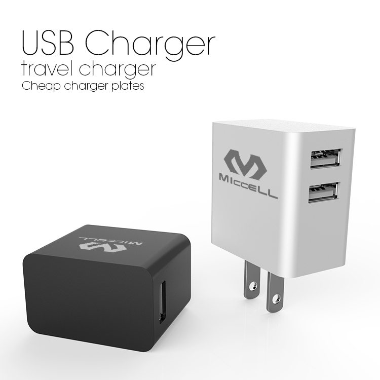 USB built-in Micro Cable EU/US Plug cell phone charger with cable( VQCT-1629)