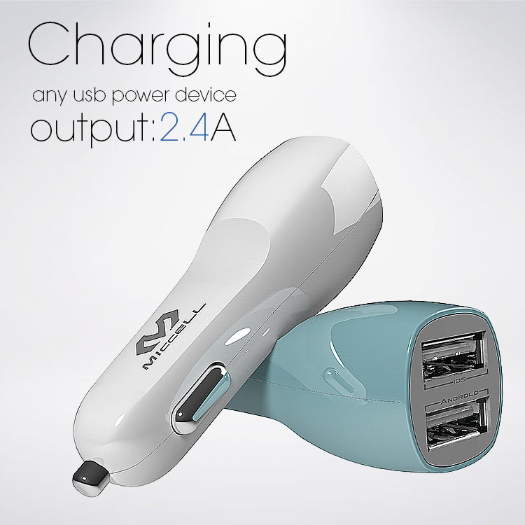 smart phone 12v USB car charger for iphone and android(VQCC-1557)
