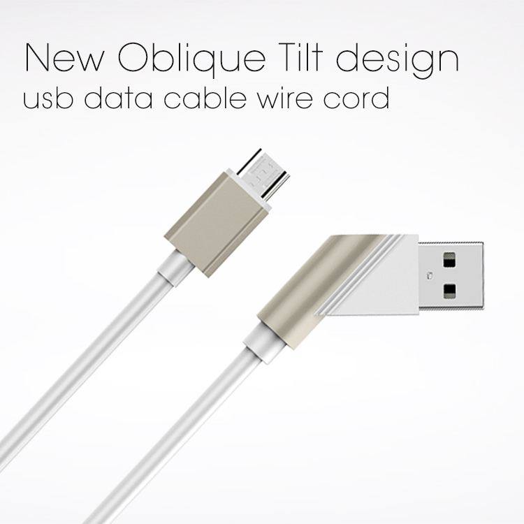 Veaqee manufacturer Miccell brand New Oblique Tilt design usb data cable wire cord for smartphone( VQUC-1705)