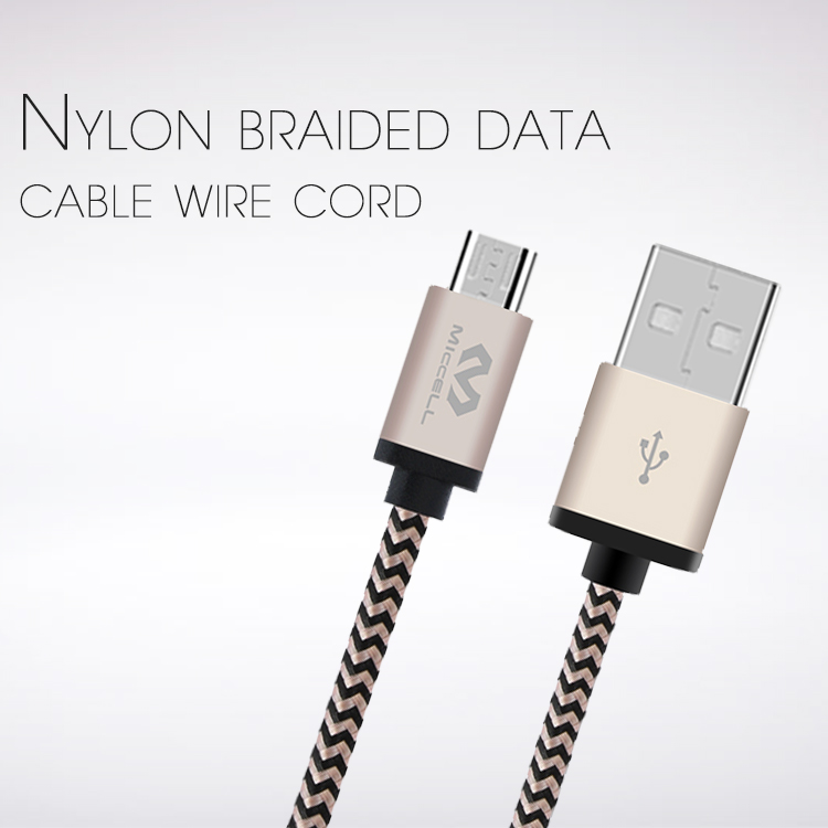 Veaqee manufacturer Miccell brand Nylon braided data cable wire cord for iphone android(VQ-D04)-1