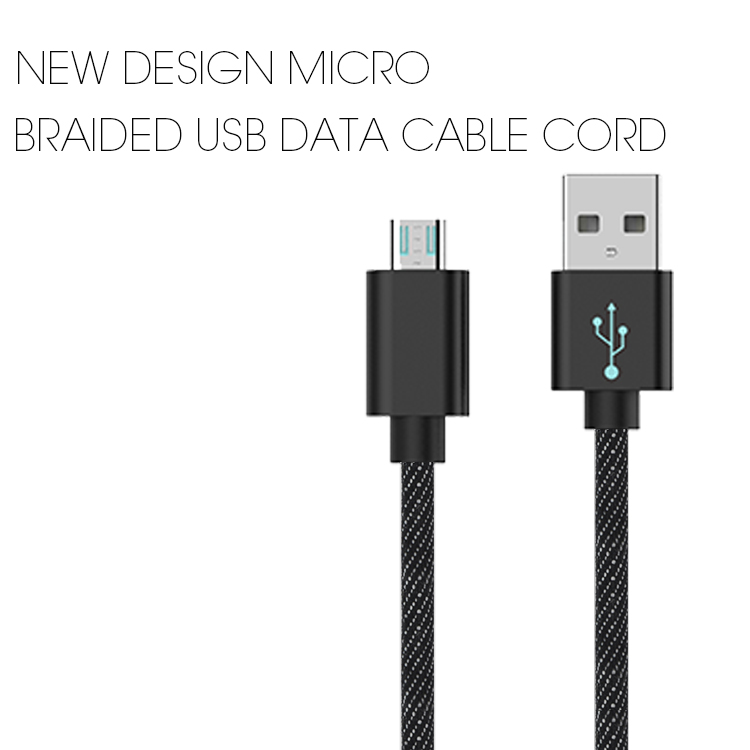 Veaqee manufacturer Miccell brand New design braided usb data cable for iphone 8 plus x(VQUC-1712)