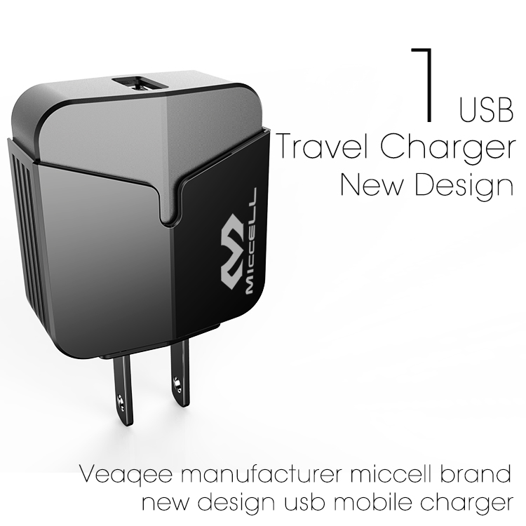 Veaqee manufacturer miccell brand QC3.0 quick charge usb mibile charger(VQ-T02UQ (QC3.0))