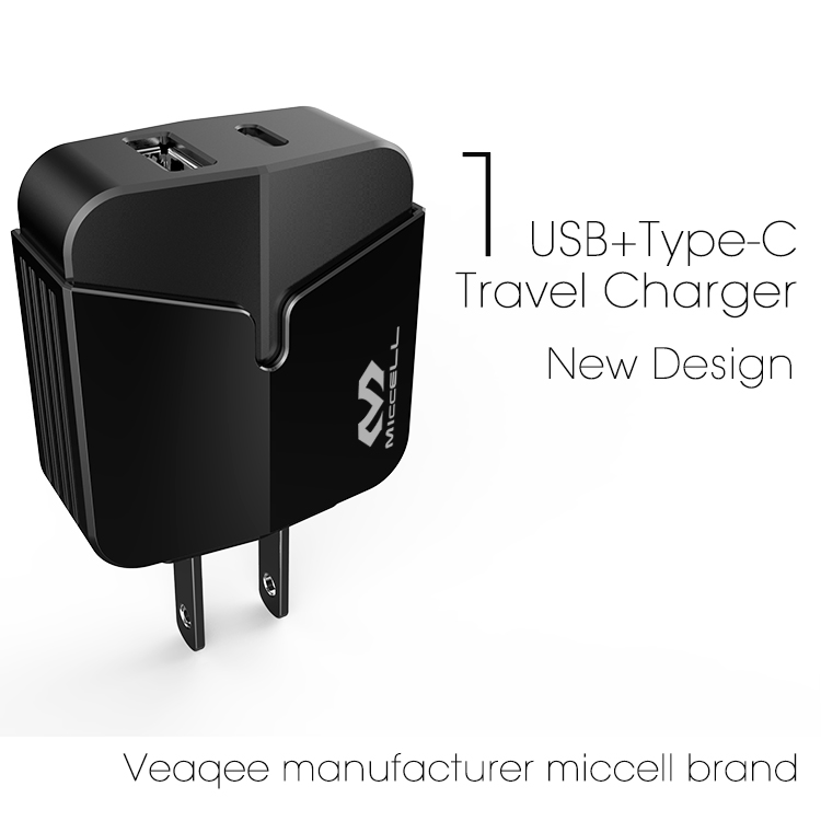 Veaqee manufacturer miccell brand new design multifunctional  usb mibile charger(VQ-T02UT (2.4A))