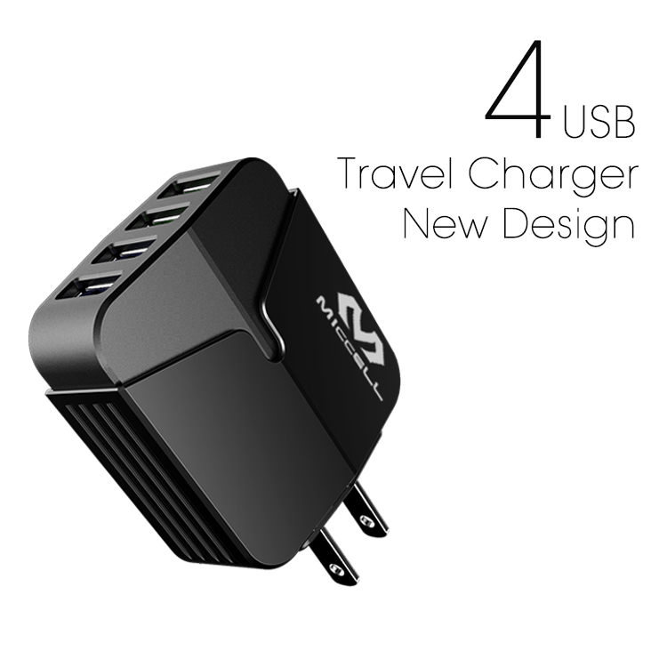 Veaqee manufacturer miccell brand new design 4ports usb mibile charger(VQ-T04U (4.4A))