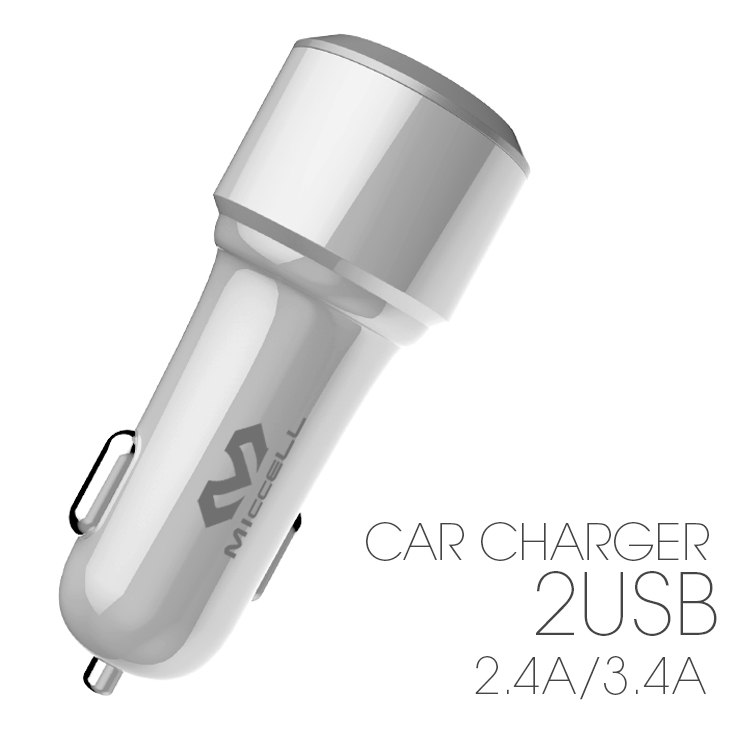 Veaqee Manufacturer Miccell Brand New Design 2.4A/3.4A*2usb /QC3.0*1 usb car charger(VQ-C08)-1