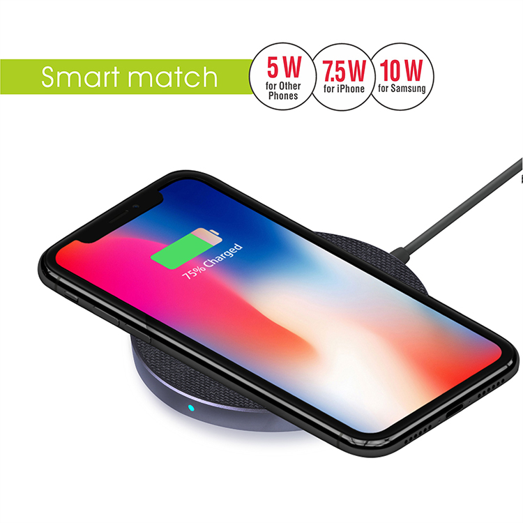 Veaqee Manufacturer Miccell Brand Fast QI Wireless Charger Pad(VQ-W11)