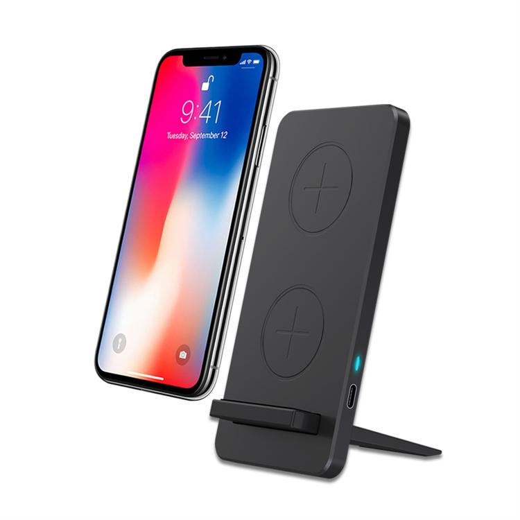Veaqee Manufacturer Miccell Brand Fast QI Wireless Charger Stand For iPhone For Samsung(VQ-W13)
