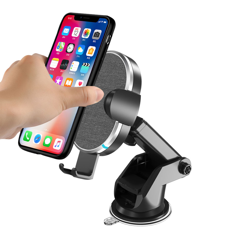 Veaqee Manufacturer Miccell Brand Fast QI Wireless Car Mount Charger (VQ-W14)-1