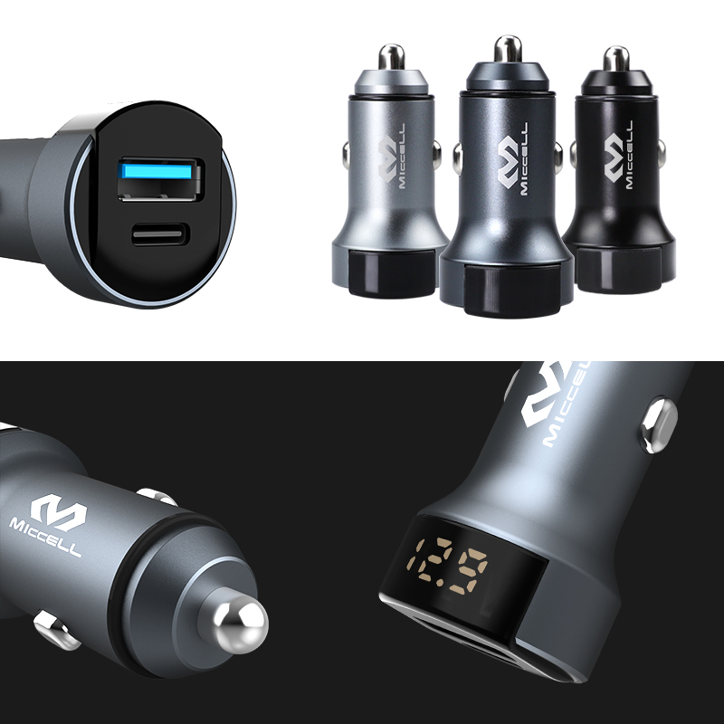 Dual qc3.0 car charger + LED display (VQ-C33)