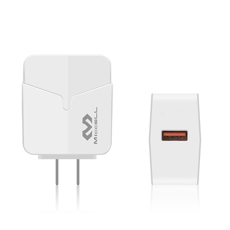 Veaqee QC3.0 US 1 USB port fast wall charger T02QC